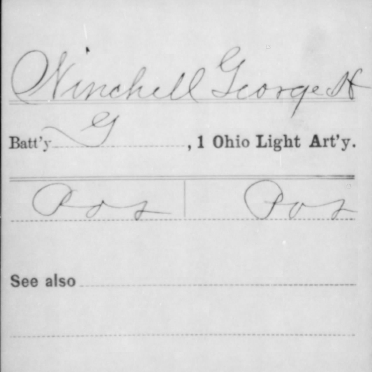 Pvt. George Winchell, Battery G, 1st OH Light Artillery, USA