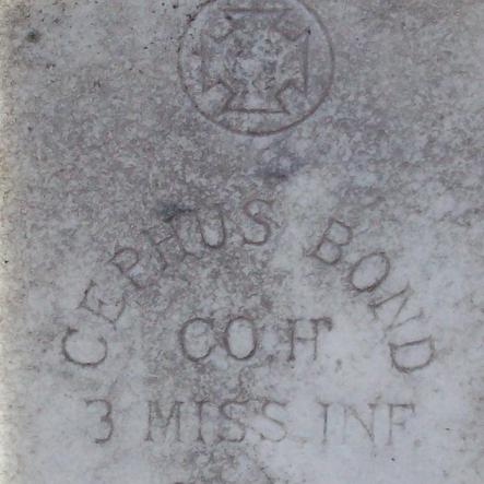 Pvt. Josephus Bond, Co. H, 3rd MS Infantry, CSA