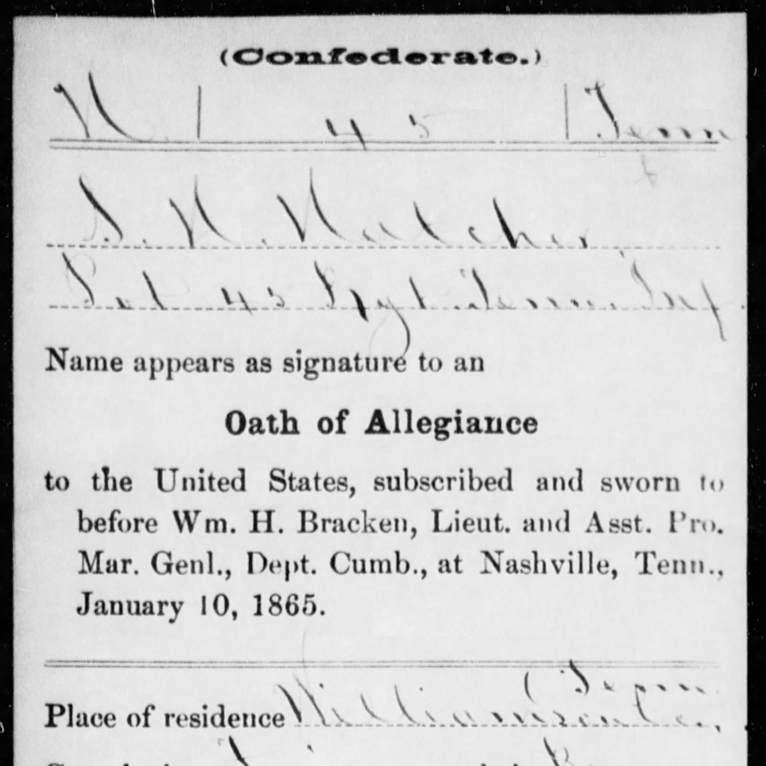 Pvt. Spotswood Hatcher, Co. A, 45th TN Infantry, CSA