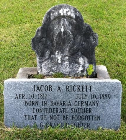 Pvt. Jacob Rickett, Co. B, 43rd MS Infantry, CSA