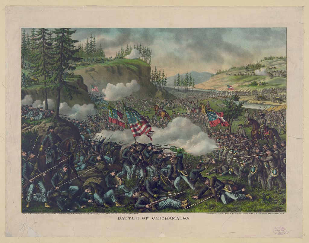 Battle of Chickamauga by Kurz & Allison, ca. 1890. Courtesy of the Library of Congress.