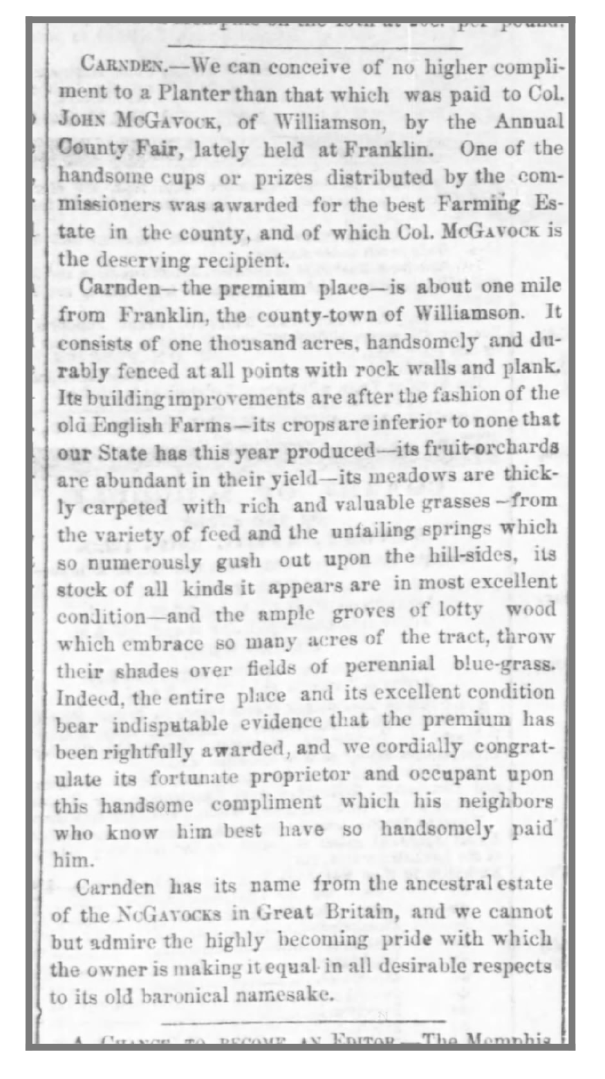 Nashville Union and American , October 19, 1860.