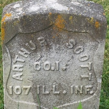 Pvt. Arthur Scott, Co. I, 107 IL Infantry, USA