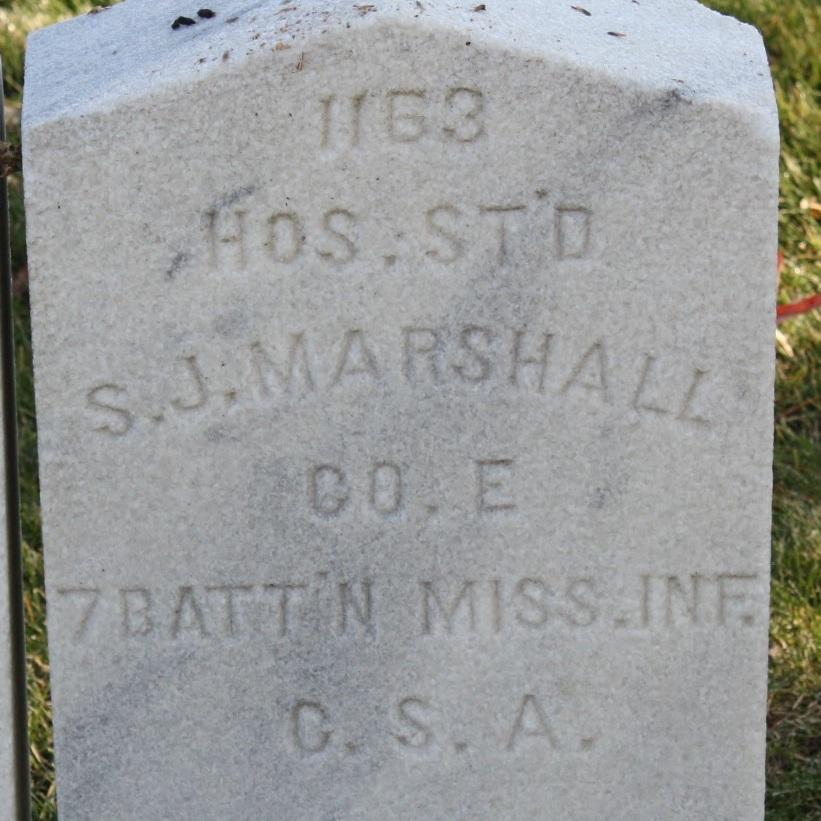 Pvt. Samuel J. Marshall, Hospital Steward, Co. E, 7 Battalion MS Infantry, CSA