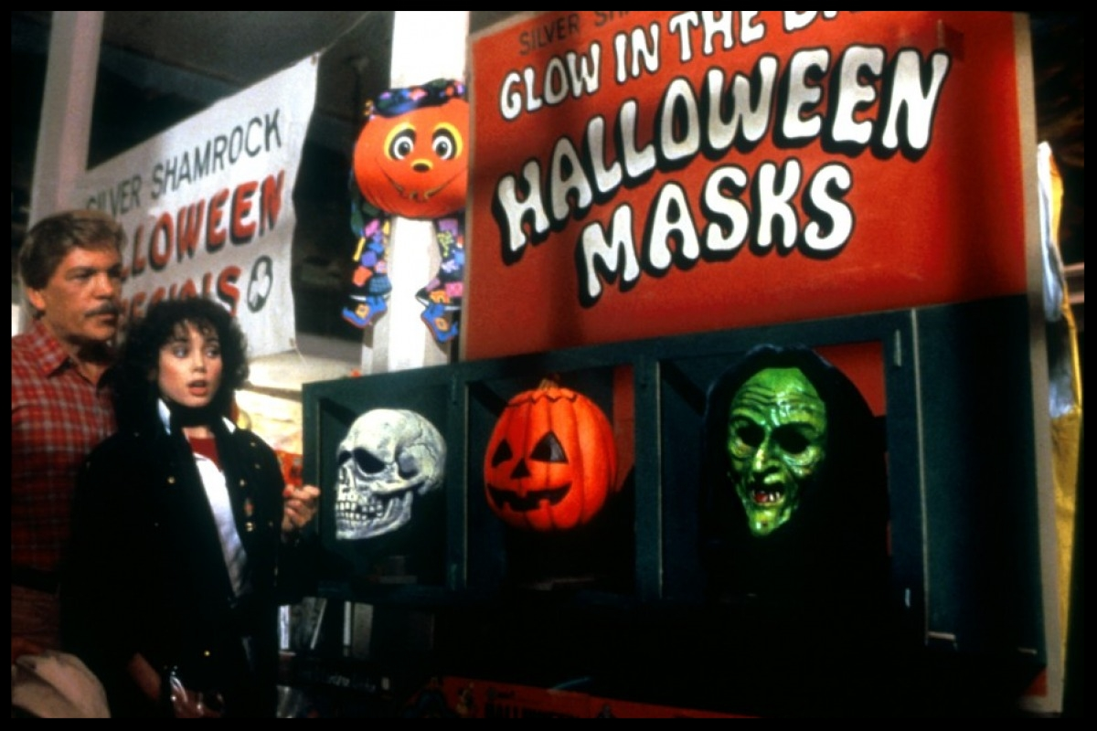 What's scarier: masks that will slaughter children on Halloween, or  Tom Atkins  hitting on  Stacey Nelkin ?