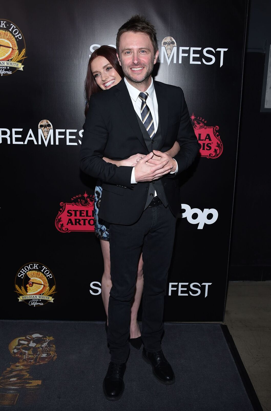 (L-R) -  Lydia Hearst  and  Chris Hardwick
