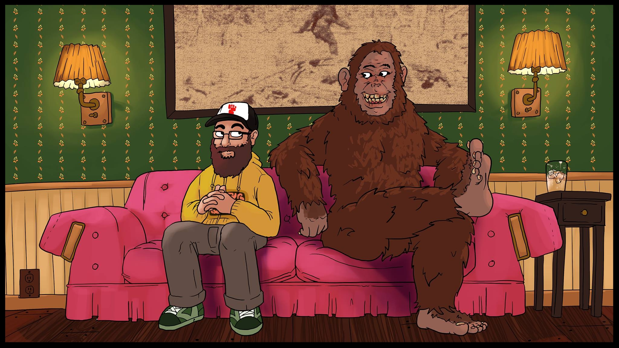 Owen and Bigfoot on the couch
