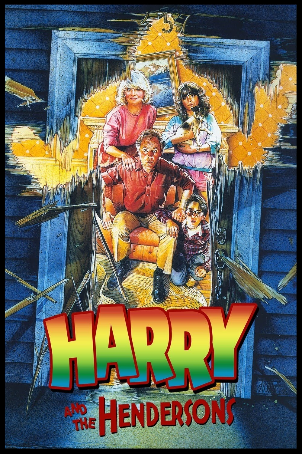 Harry and the Hendersons painted movie poster