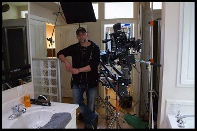 Director and Writer  John Fallon  seen on set