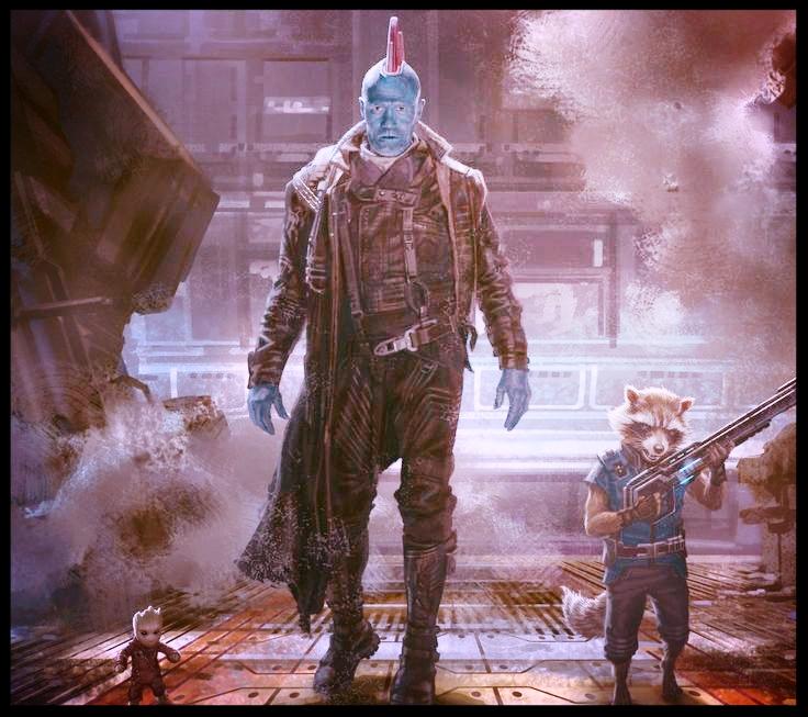 Groot, Yondu and Rocket