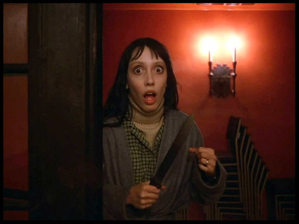 Shelley Duvall in the Shining knife