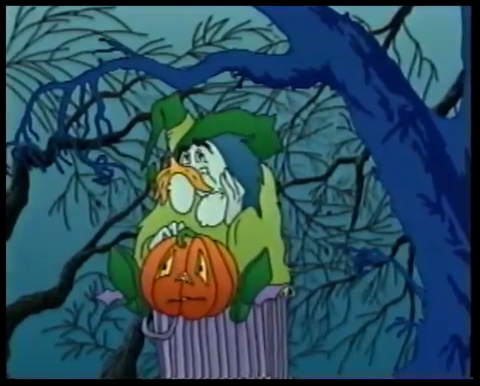 Lumpkin The Pumpkin - witch and pumpkin