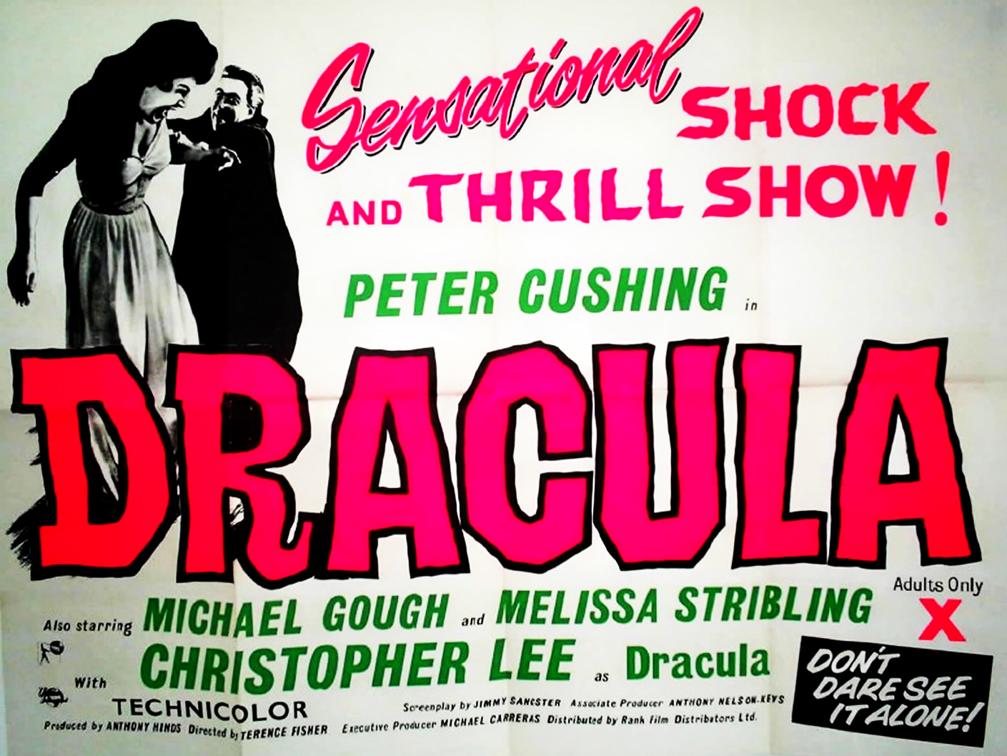 Dracula AKA The Horror of Dracula Movie Poster