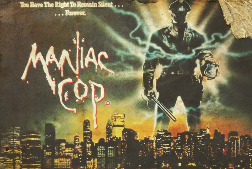 Maniac Cop, Written Review - Michael Campochiaro looks at the enduring - and still timely - cult classic horror/action film from the minds of Larry Cohen and William Lustig, Maniac Cop, starring Bruce Campbell, Tom Atkins and Robert Z'Dar.