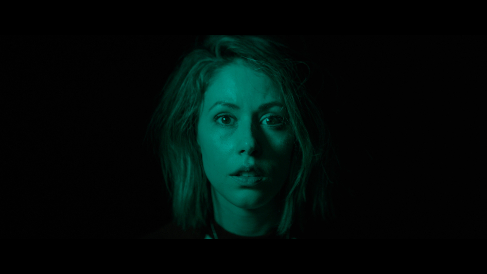 Amanda Crew  as Olive in the horror / thriller   TONE-DEAF  . Photo courtesy of  Saban Films .