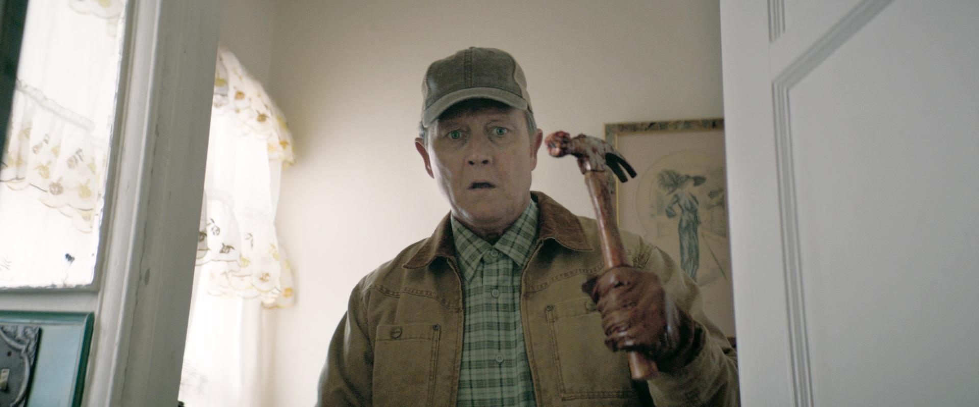Robert Patrick  as Harvey in the horror / thriller   TONE-DEAF  . Photo courtesy of  Saban Films .