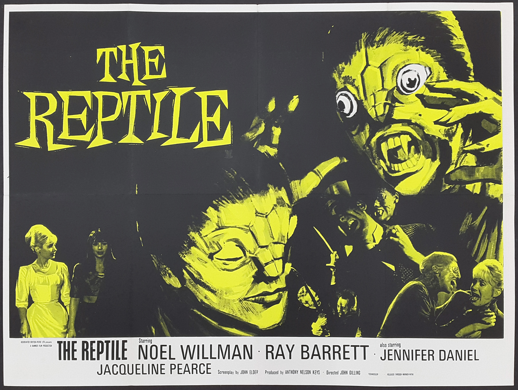 The Reptile Poster Hammer Horror