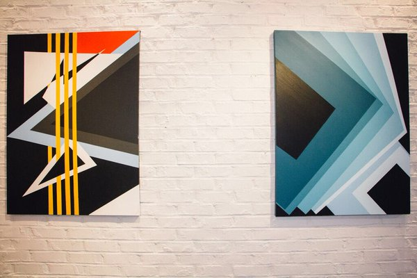 "Wave[s] Exhibition   (Left to Right)   Patience    40 Below    30""x40"""
