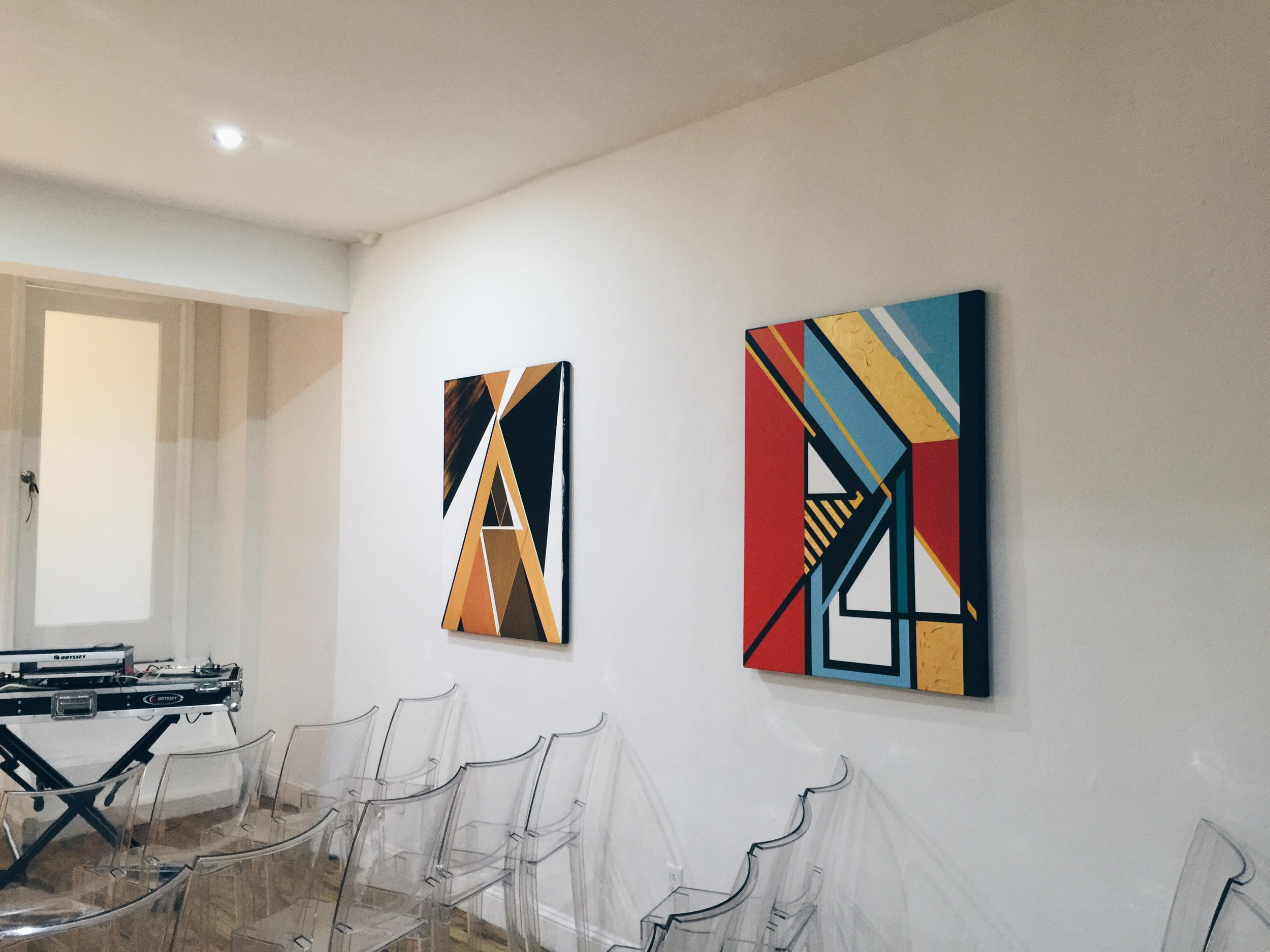 "Wave[s] Exhibition   (Left to Right)   Alchemy    Piano    30""x40"""