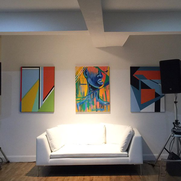 "Wave[s] Exhibition   (Left to Right)   Get up Get down    Your Love    Wave[s]    30""x40"""