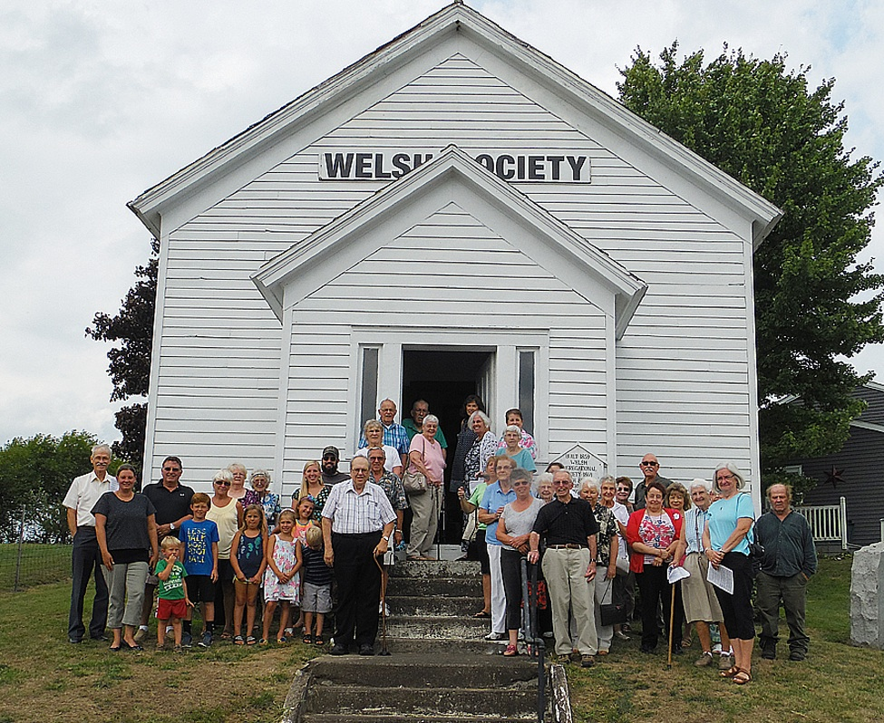 The Richville Welsh Society held its 2016 service last Sunday. There were 44 persons in attendance. They gathered for a group photo outside the church before going to the Richville Fire Hall for refreshments. (Rachel Hunter photo)