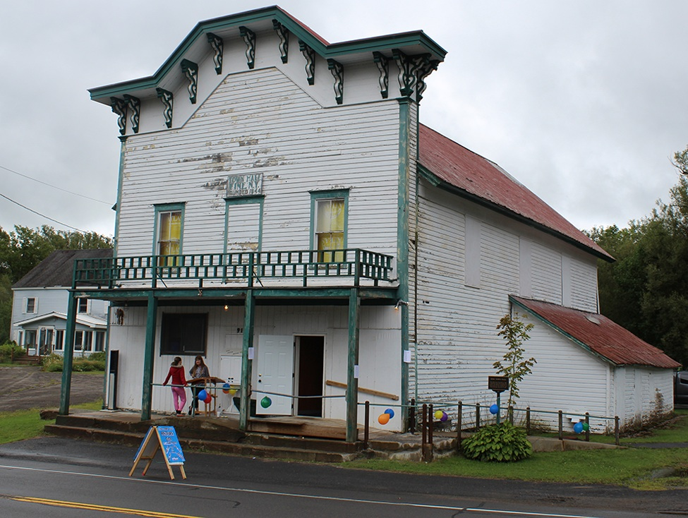 The Fine Town Hall, pictured on Aug. 19 during the 2017 Fine History Day. The Fine Town Hall is listed on both the New York State and Federal Registers for Historic Places. (Rachel Hunter photo)