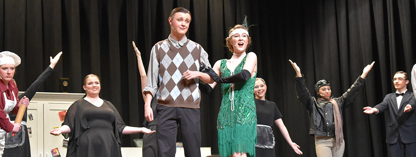 Cole Siebels as Robert Martin and Taylor Ormasen as Janet Van De Graaff entertained the audience with their singing and acting talents. (photo by Jessyca Cardinell)