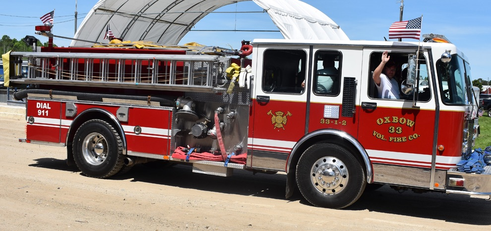 Oxbow Volunteer Fire Co. in the 2019 Gouverneur Flag Day Parade on Sunday, June 9 at the Gouverneur and St. Lawrence County Fairgrounds. (photo by Jessyca Cardinell)