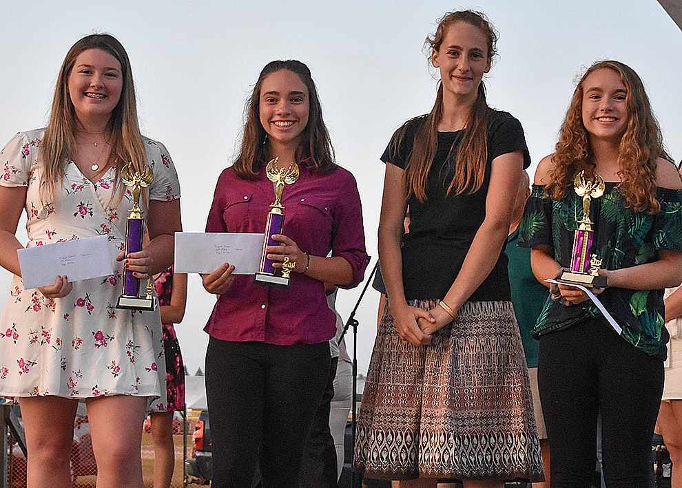 Talent show winners from the 12-16 years of age group: Jaelyn Stevens, Holly Goddard, Brooke Goddard, and Sophia Cicchinelli. (Jessyca Cardinell photo)