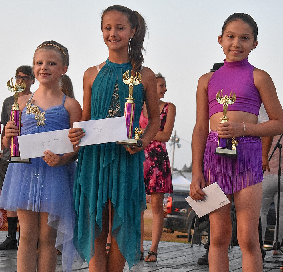 Talent show winners in the 3-11 age group: Josslyn Fishel, Lilah Siebels and Stevie Petrie. (Jessyca Cardinell photo)