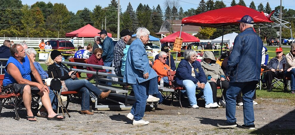 Local residents enjoying the fantastic music by Steelin' Country. (photo by Jessyca Cardinell)