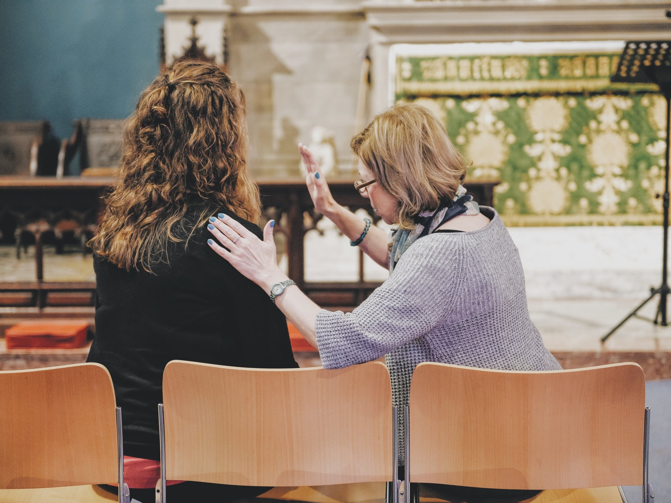 Prayer ministry - Praying with people during or after services, following the leading of the Holy Spirit.To get involved email Pippa