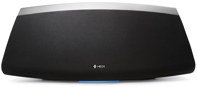 The heos 7, perfect for large rooms and for parties. Two custom tweeters and two mid-woofers; large subwoofer and two passive radiators; powered by five dedicated class d amplifiers