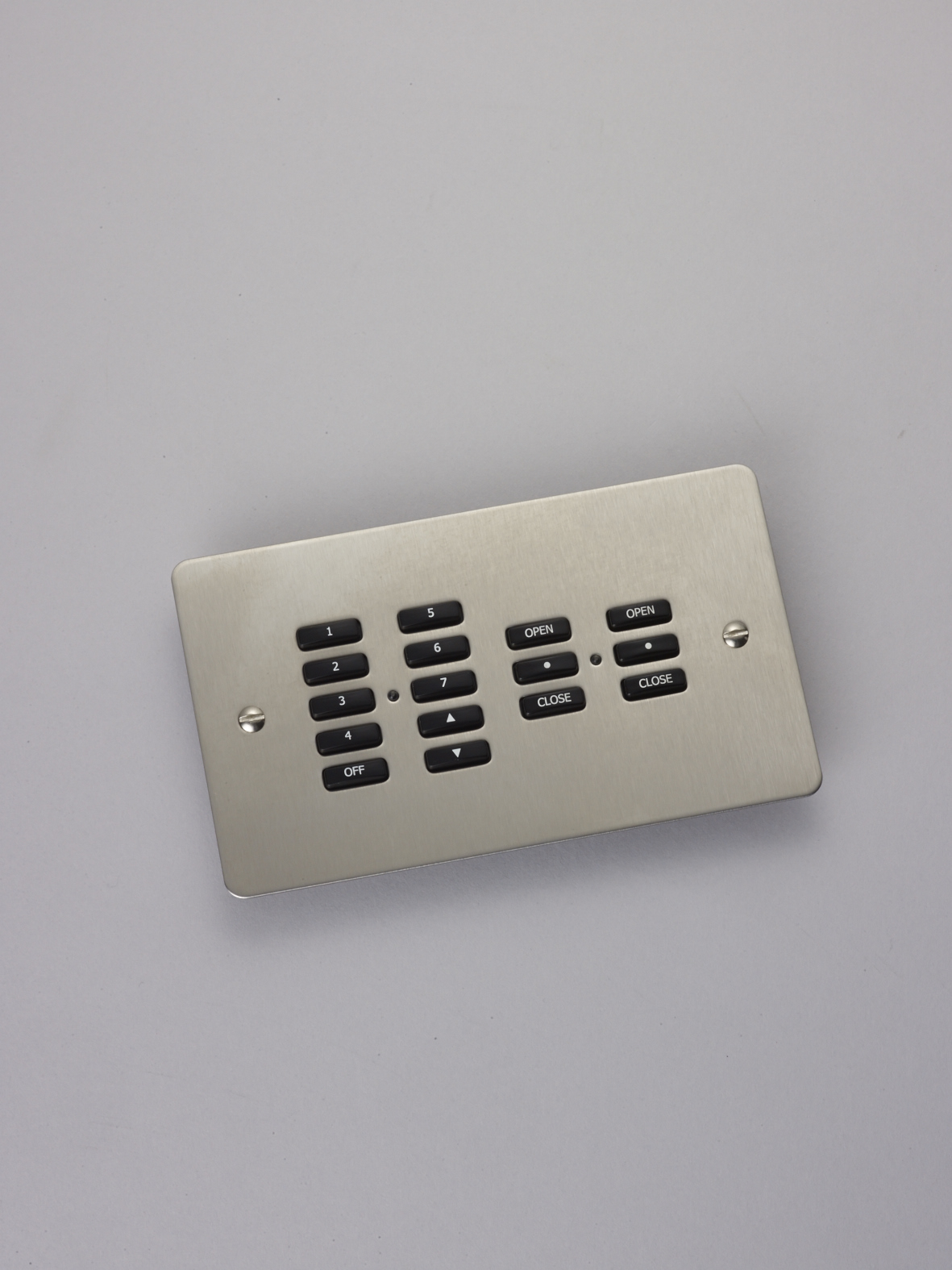 control multiple elements, such as lights and blinds, from a single keypad