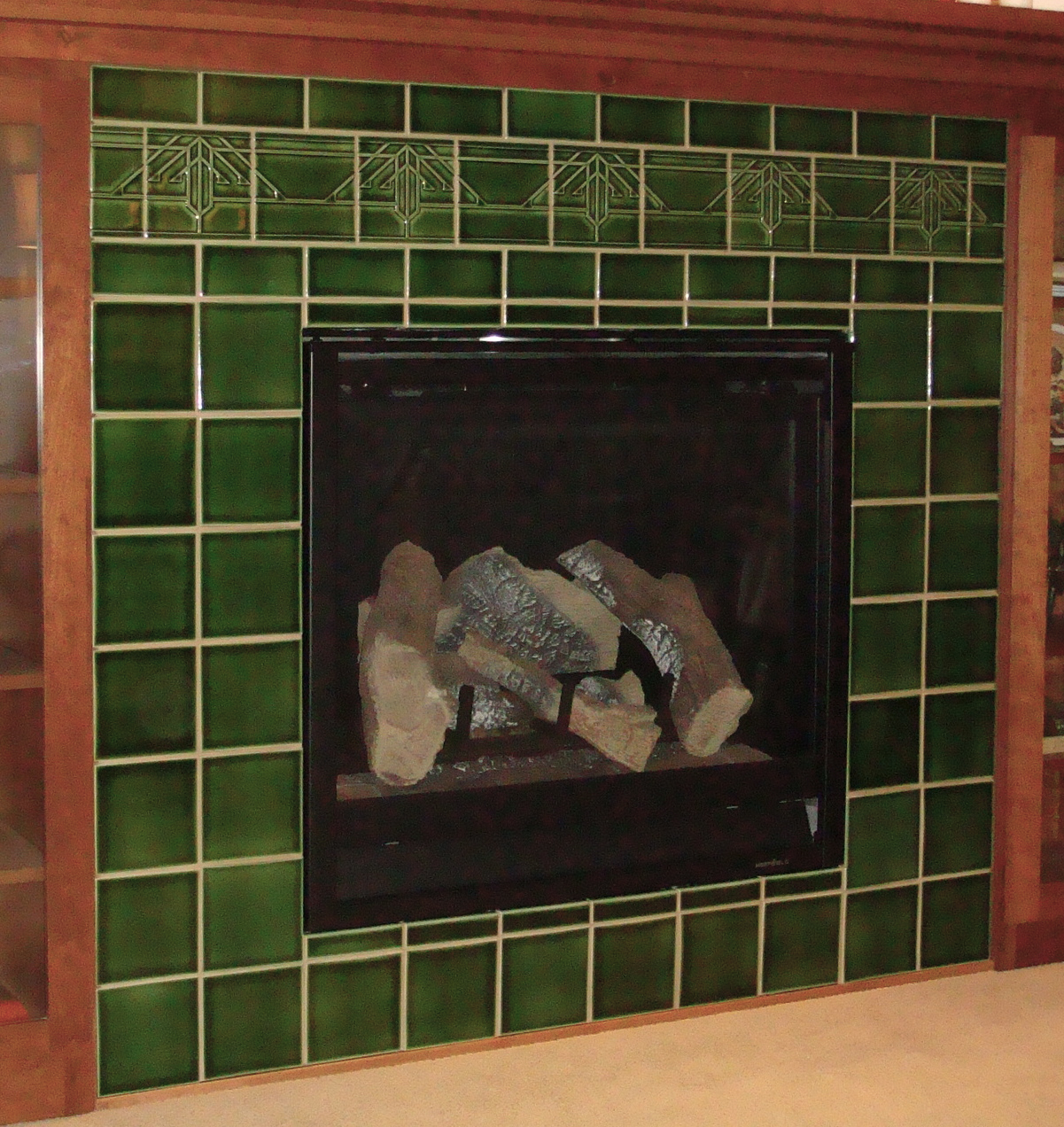 Prairie tile Fireplace
