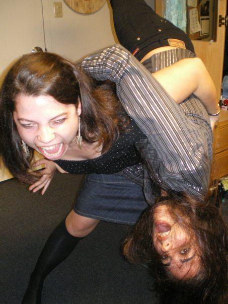 My roommate Tiffany and I used to play Judo together in college. Good times. My husband did not appreciate choke holds and I am banned from using Judo, Jujitsu or Tae Kwon Do :( *Downside of egalitarianism.