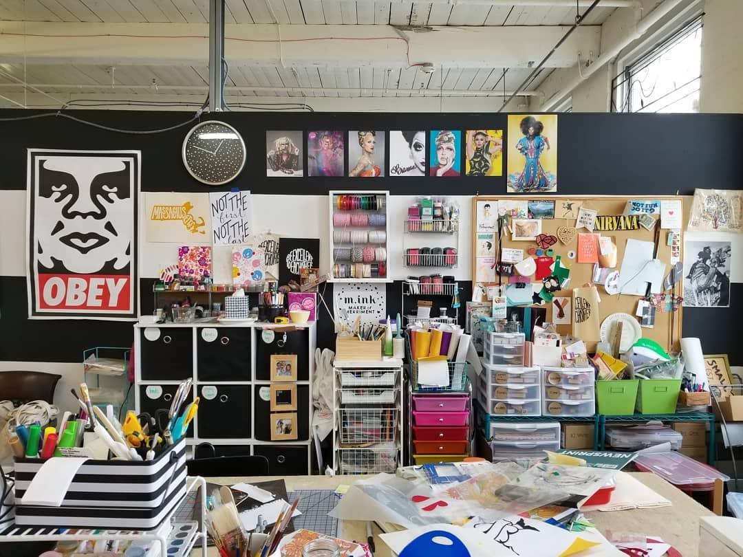 glimpse inside - m.ink studio space @ western avenue studios, 2018