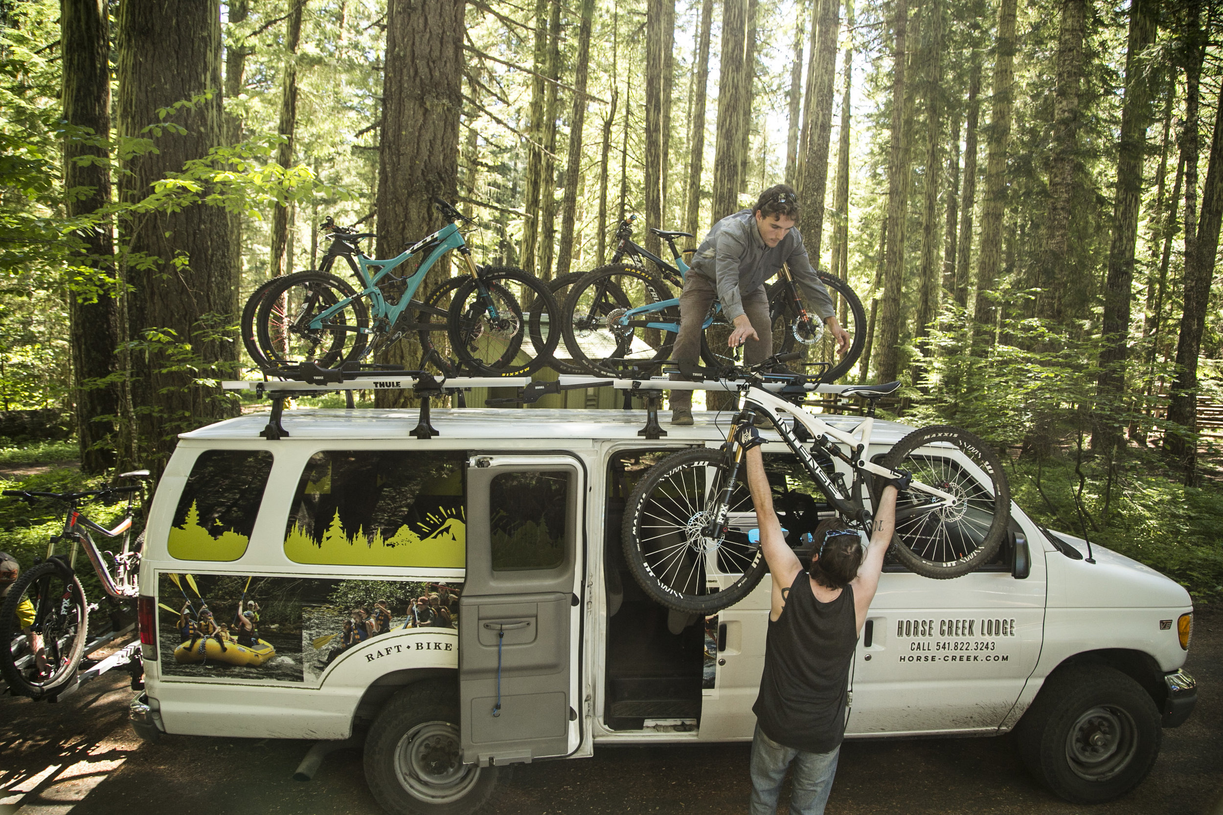 A special thank you to Horse Creek Lodge for their generosity in getting us around the forest with our bikes and gear.