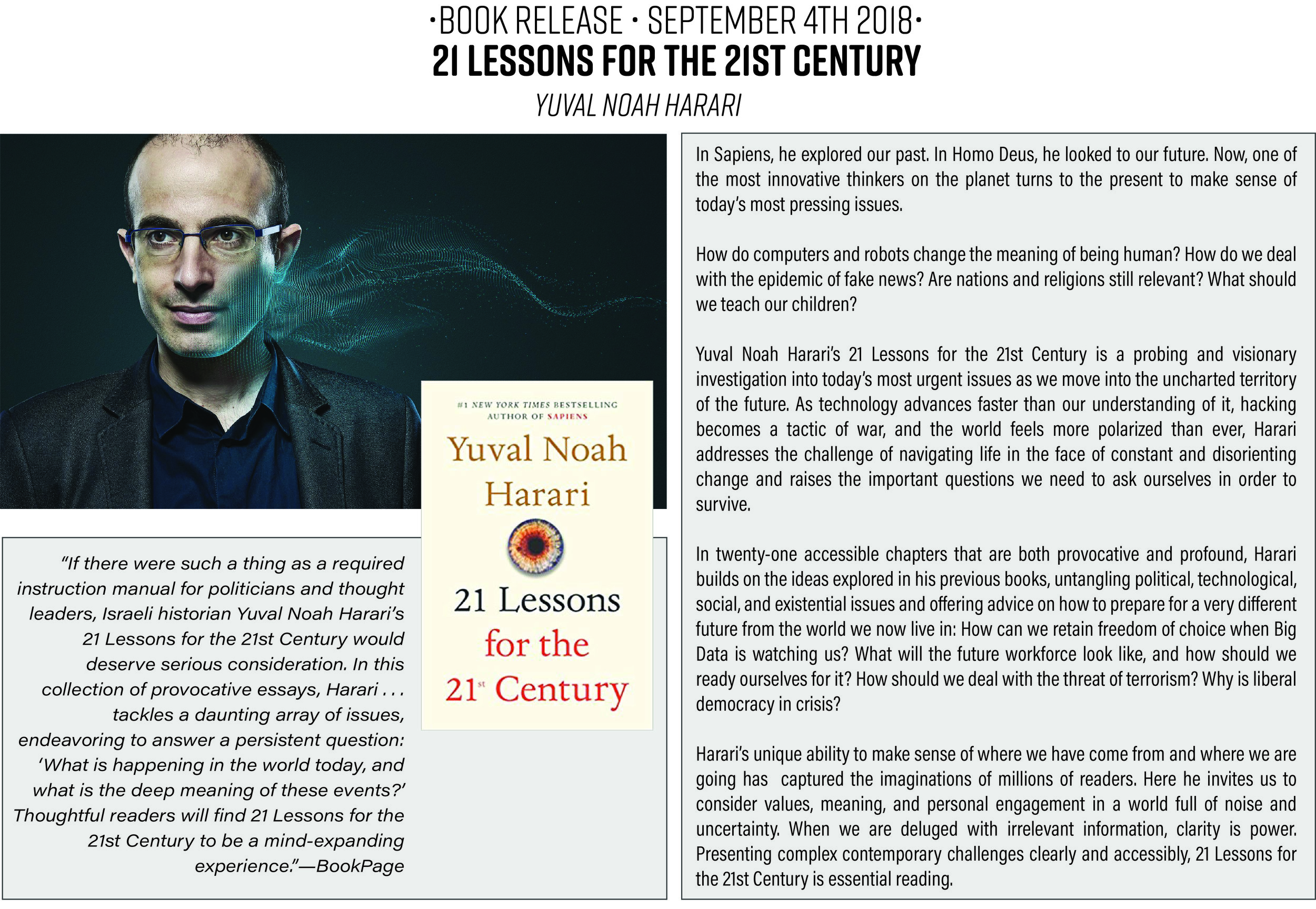 21 Lessons for the 21st Century : Yuval Noah Harari : Non-Fiction