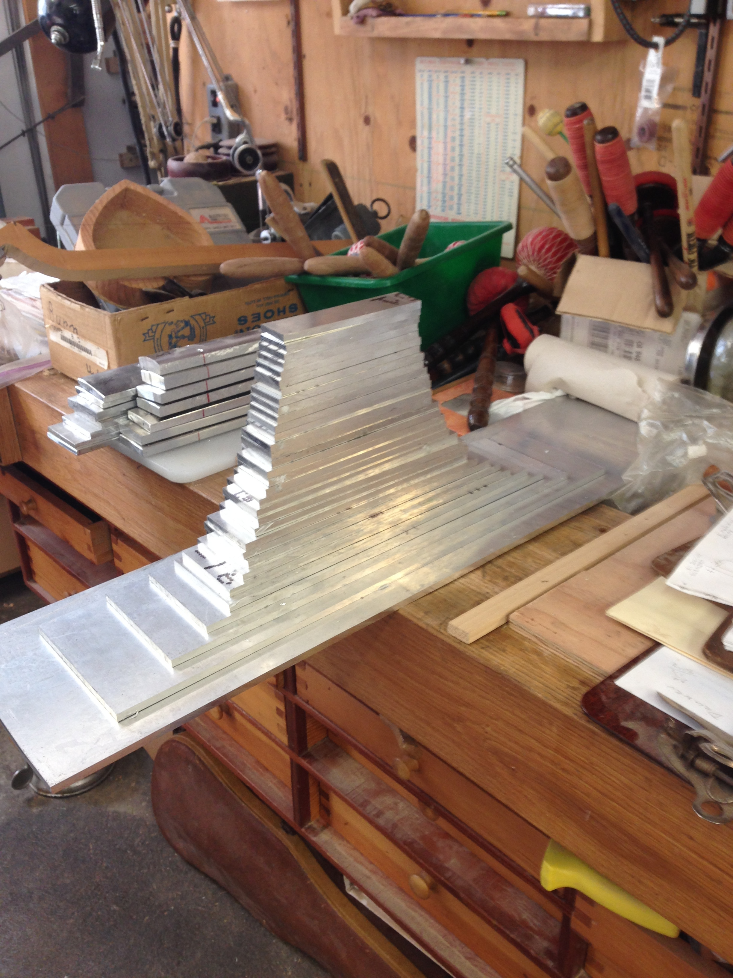 Keys cut and stacked - did I mention width to length of each key is a 4:1 ratio?