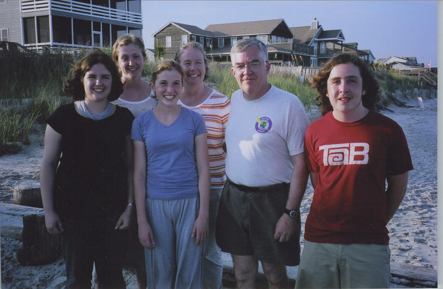 Belle, McCamie, Alexandra, Ann, Don, John DeArmon in 2008.