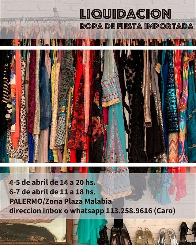 Agendate! Este jueves viernes sábado y domingo te acercamos a Palermo toda la ropa de fiesta importada que tenemos para vender! Si!!! Vestidos de día/ de noche/ largos/ cortos/ chaquetas/ tops/ carteras... Podes pagar con mercado pago/ tarjetas de crédito y con efectivo tenes un %10 off.  Pedí la dirección inbox y venite! Te esperamos 👊🏻👗👠✨🌟