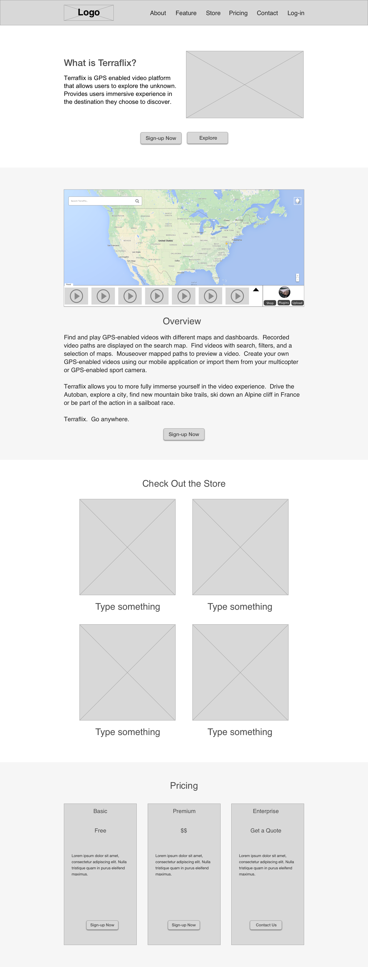 First Iteration of Landing page