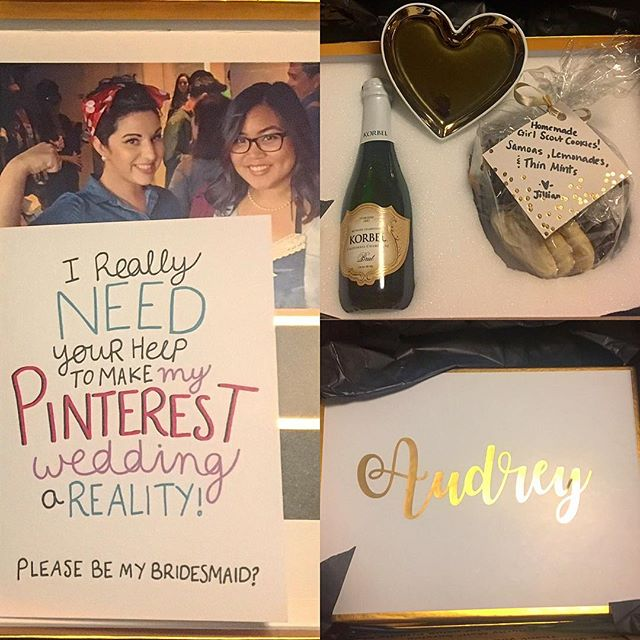 Um duh @jillytoots827!!! I'm so excited and honored to be a part of your special day!!! #yas #yqy #bridesmaids #pinterestwedding 💍👯🎉🍾🥂