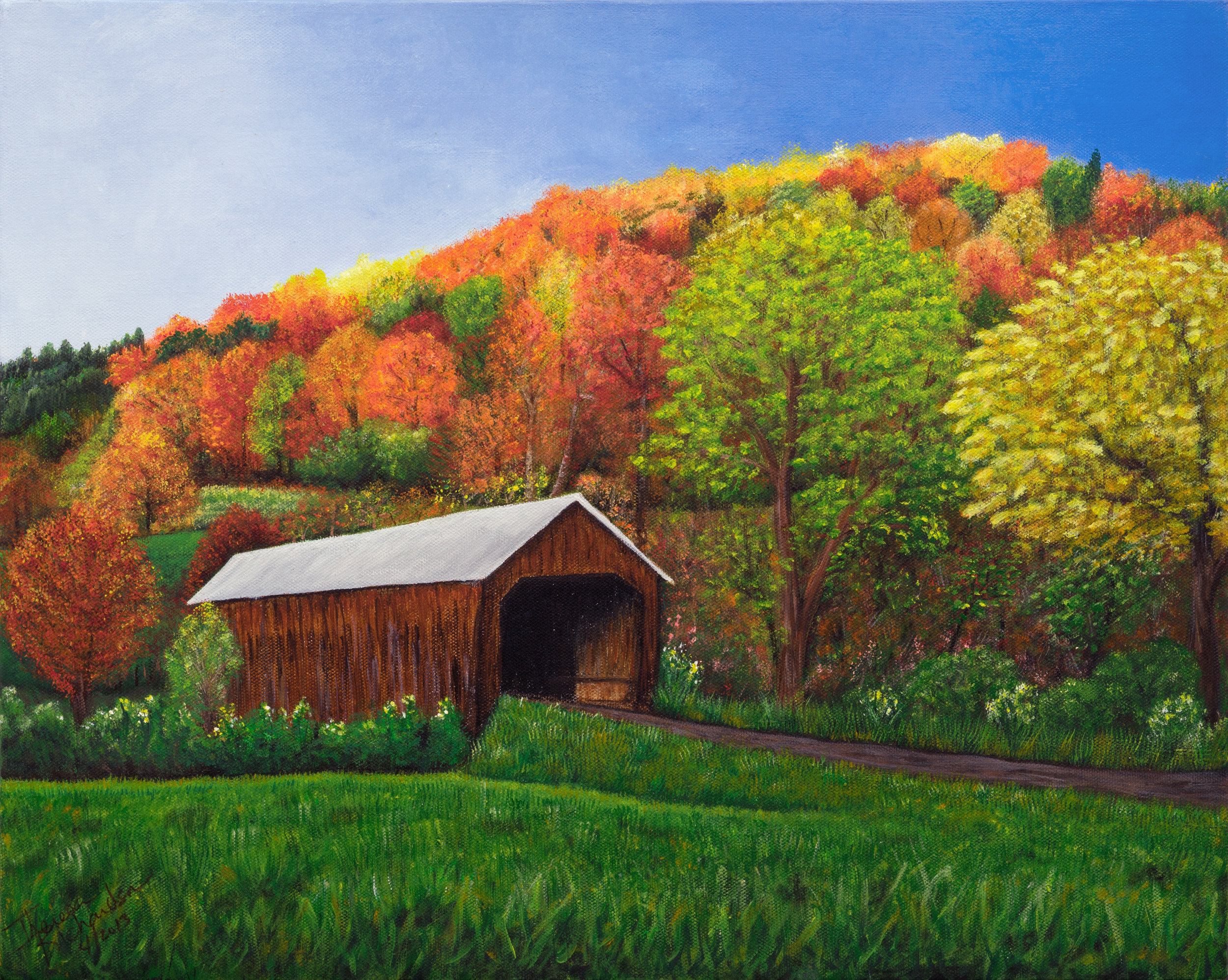 Glorious Fall , 2013, acrylic on canvas, 16 x 20 inches