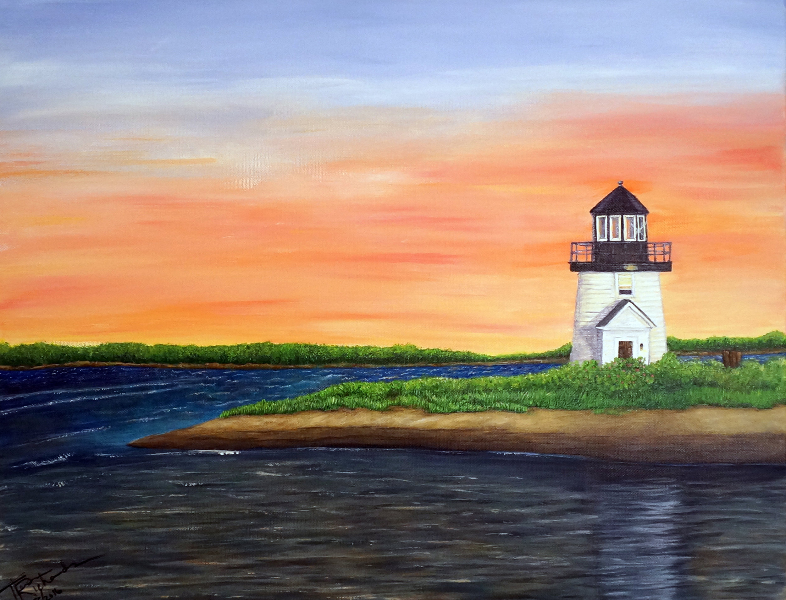 Lighthouse,  2016, acrylic on canvas, 16 x 20 inches
