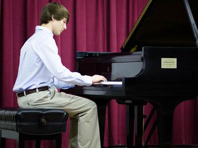 Stone Martin at the piano.