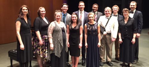 HHS ALO students perform at the end of year recital at Coker College (April 2015)