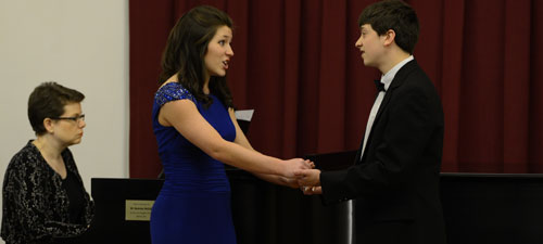 Sarah and Alex performing at Coker College, ALO recital