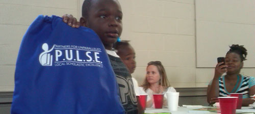 Mentees got a goodie filled back pack; mentors received a t-shirt with the PULSE logo